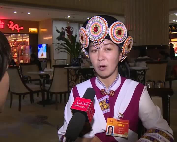 杨劲松代表:民族化服装进校园