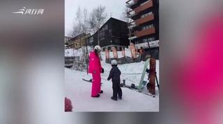 应采儿带Jasper滑雪 曾逛母婴店被疑怀二胎