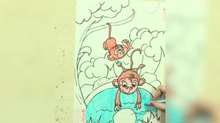 1小猴子捞月亮_17